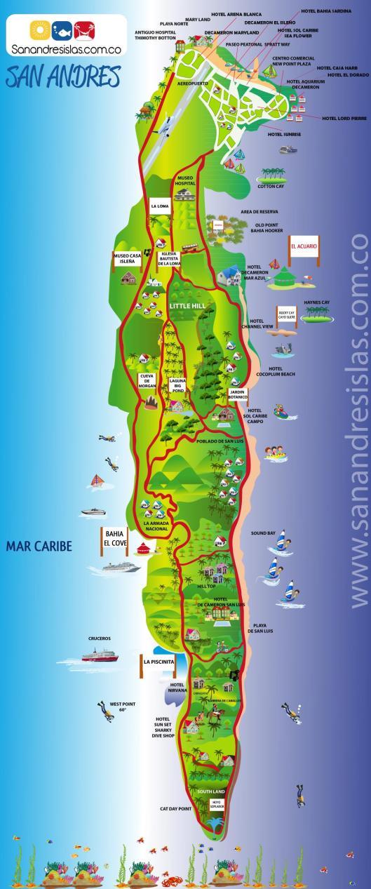 Mapa de San Andrés